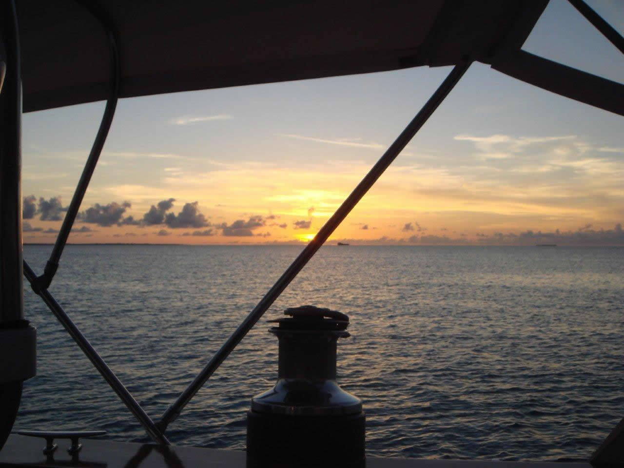 sunset over the winch - ship/crew page
