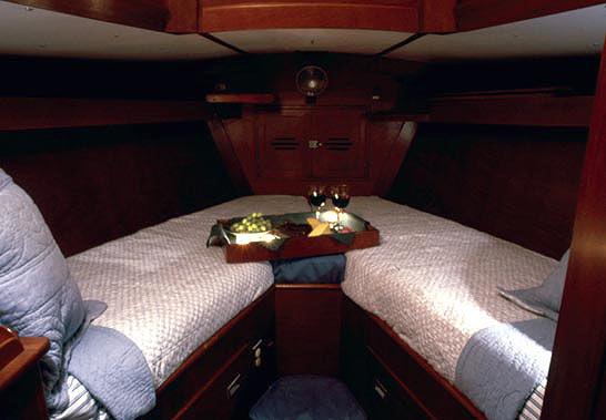 interior shot-forward berth -ship/crew page