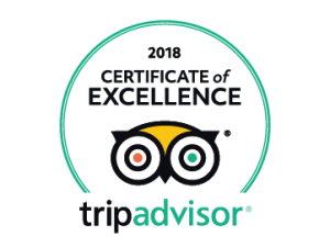 2018 Certificate of Excellence ~ Tripadvisor