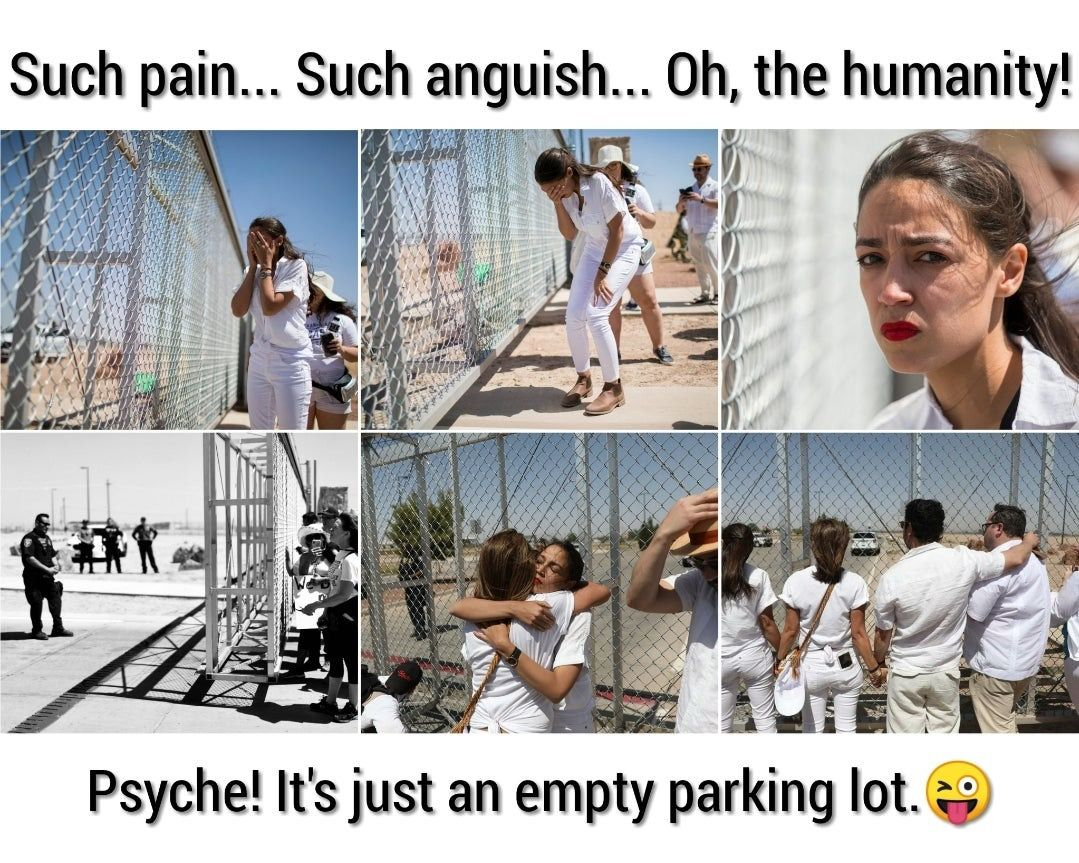 AOC Staged Protest
