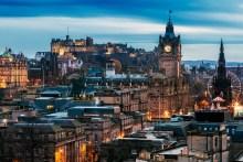 Current skyline of Edinburgh