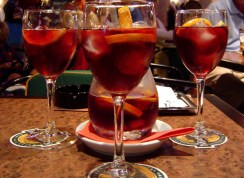 Ice cold Sangria