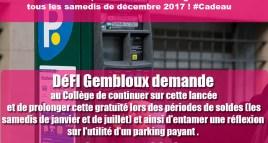 Parkings gratuits tous les samedis de décembre 2017 !