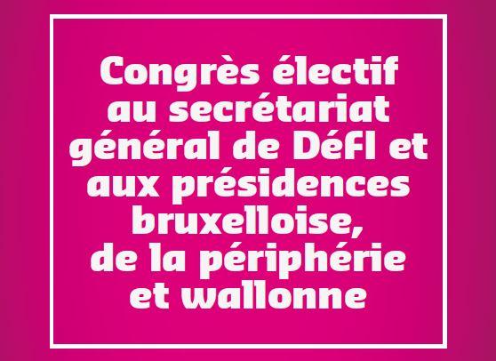 Congrès électif - Secrétariat général & Présidences