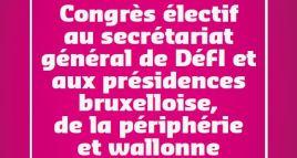 Découvrez les candidats au Secrétariat Général & aux Présidences bruxelloise, de la périphérie et wallonne
