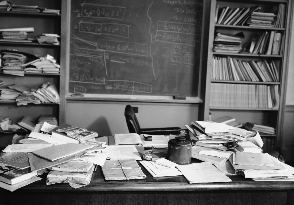 Defining Creativity  Einstein's Cluttered Desk