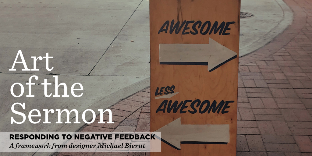 69: Responding to Negative Feedback – Art of the Sermon