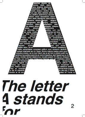 The Letter A stands for