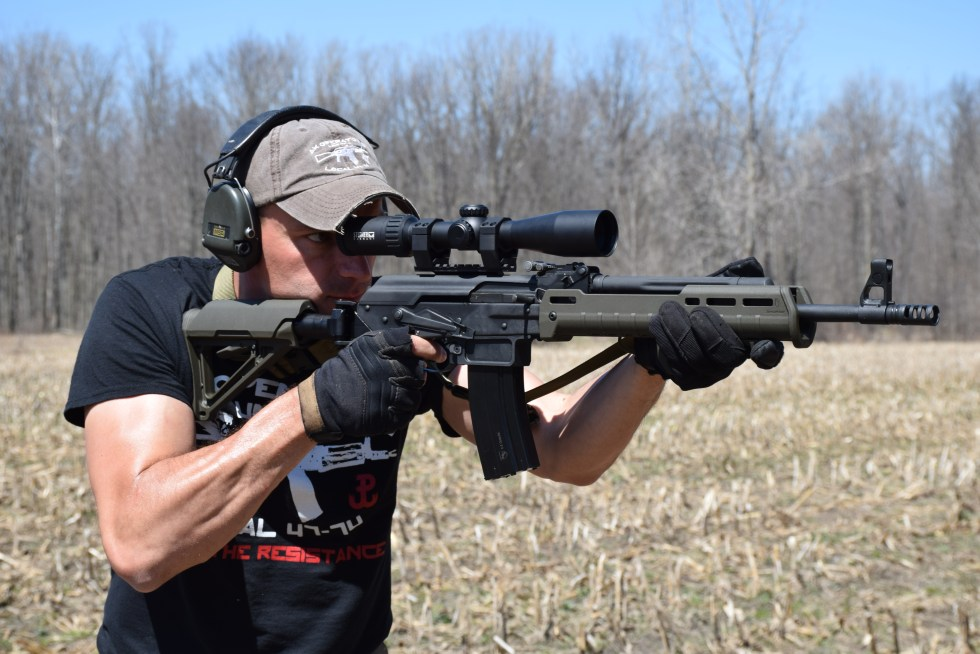 Rob Ski of AK Operators Union with a Definitive Arms converted 6.5 Grendel Vepr rifle.