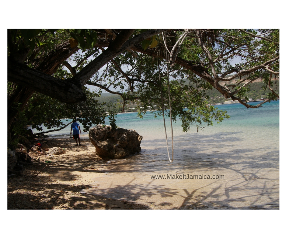 Little beach with swing - Discovery Bay Jamaica