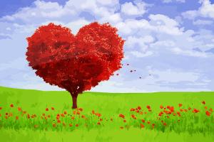 Un arbre en forme de coeur