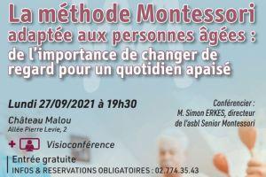 Conférence Woluwe-Saint-Lambert : La méthode Montessori adaptée aux personnes âgées