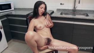Very Hairy Virgin Masturbate And Show Her Hymen