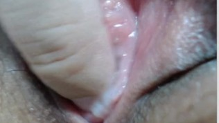 Close Up And Creampie Of A Petite Virgin Pussy