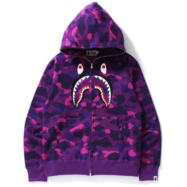 BAPE Color Camo Shark Full Zip Hoodie