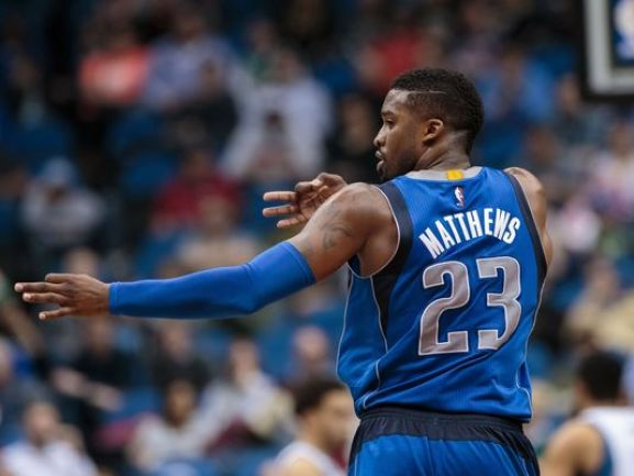 Image result for wesley matthews three point celebration