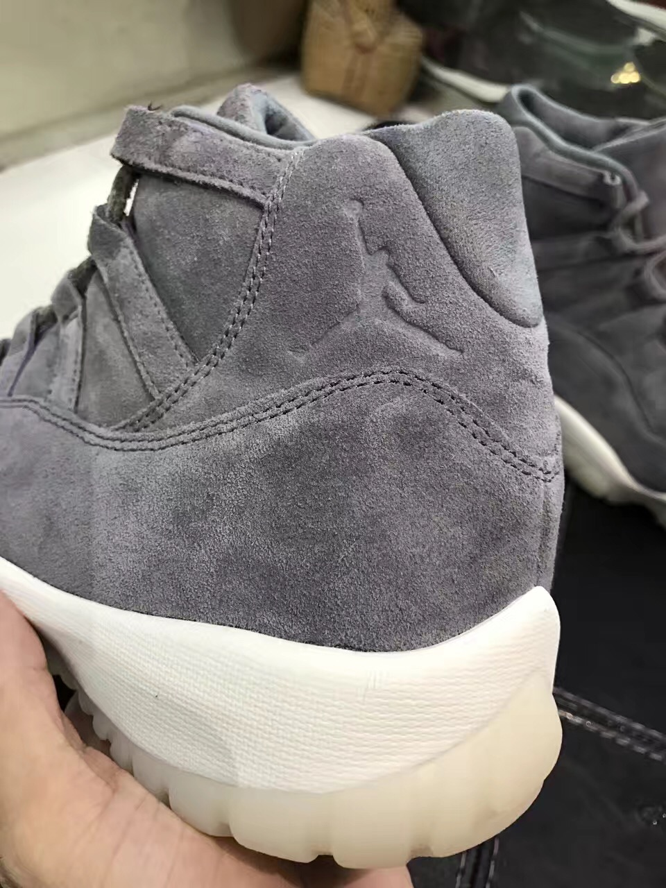 128b8185610f91 ... greece air jordan 11 premium grey suede that is expected to debut this holiday  2016.