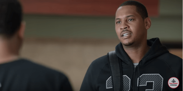 7137b091e8f Carmelo Anthony Mocks Trolls in New Foot Locker Commercial