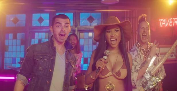 DNCE Kissing Strangers Music Video Nicki Minaj