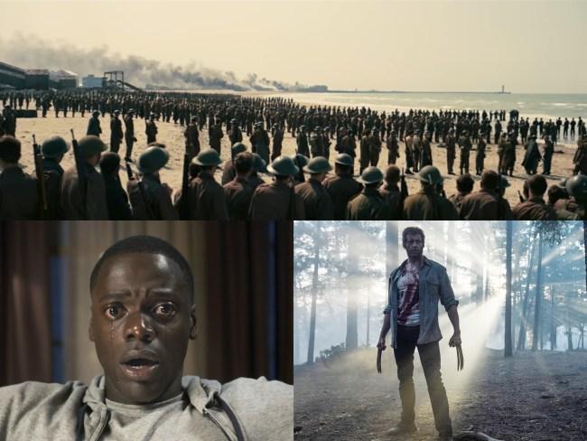 top 5 movies def pen get out dunkirk disaster artist logan
