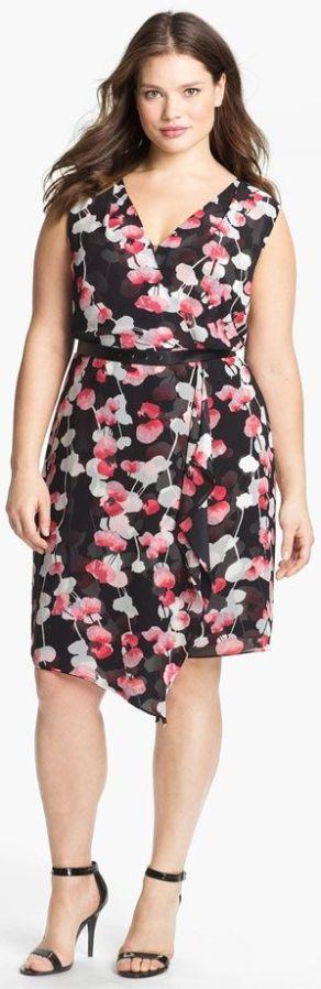 07b-dress-plus-size - vestido florido