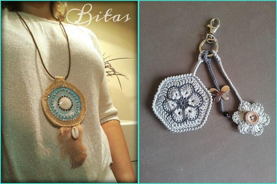 Mandala em crochê pingente e chaveiro - Benefícios e cores da mandala
