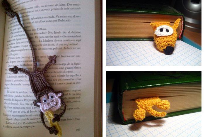 01 marcador de livro de croche