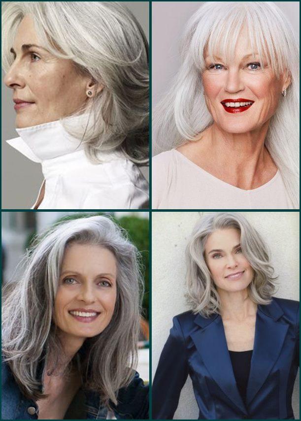 01 cortes de cabelo medio grisalho gray hair