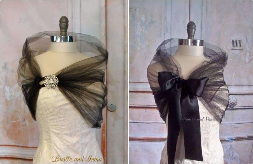 04-estola ou echarpe para festa de casamento tule - diy - faça você mesmo - costura