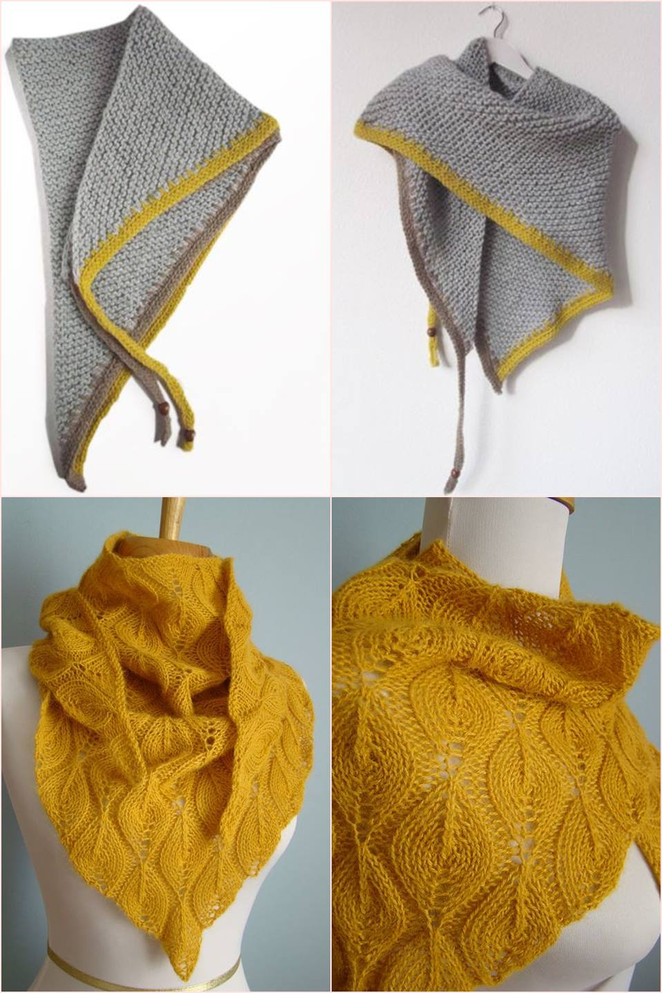 02 xale cachecol em tricô - tricoterapia
