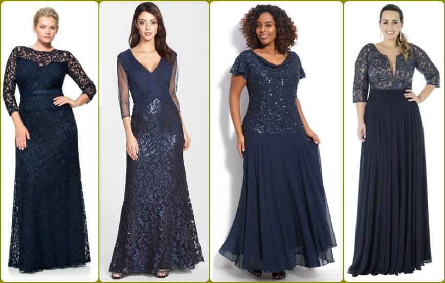 vestido para a mãe da noiva ou noivo - moda anti-idade - longo , plus size- defrenteparaomar.com