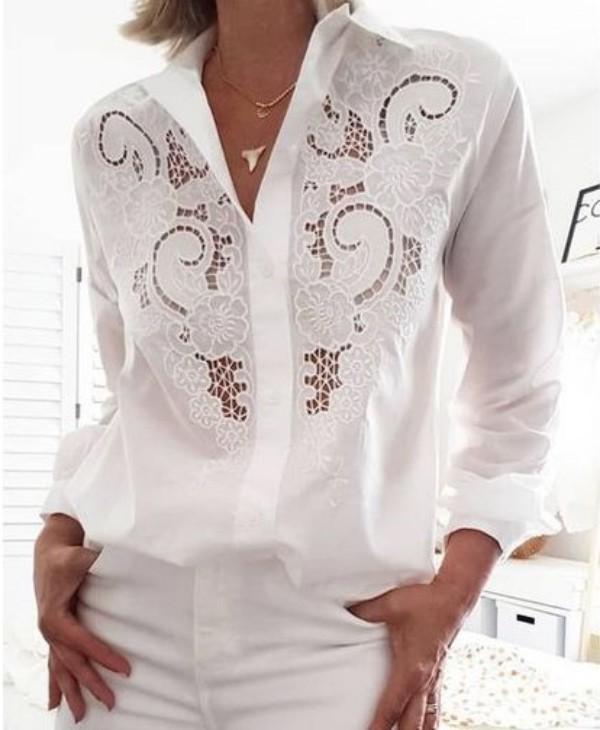 Modelos de camisa bordada bem feminina