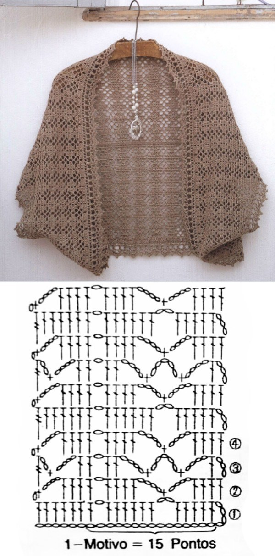 10 Modelos de pontos de blusa de crochê