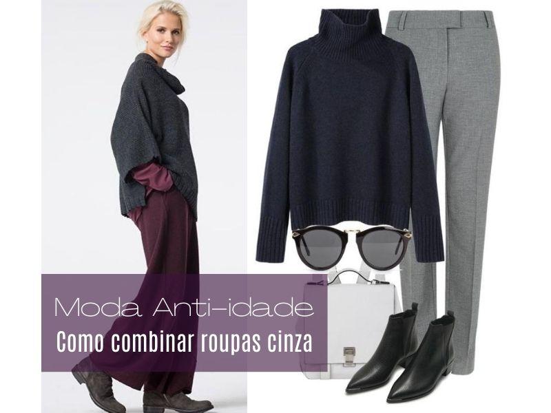Moda anti-idade: Como combinar o cinza