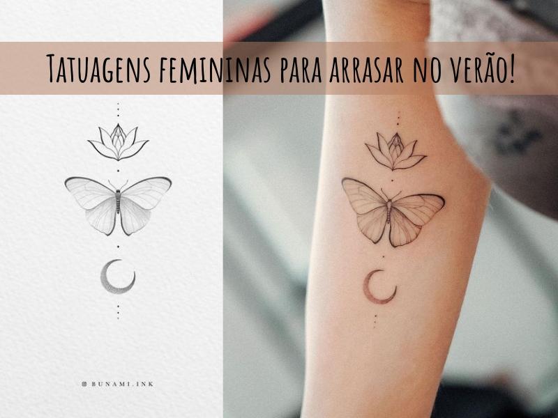 Tatuagens femininas para arrasar no verão!