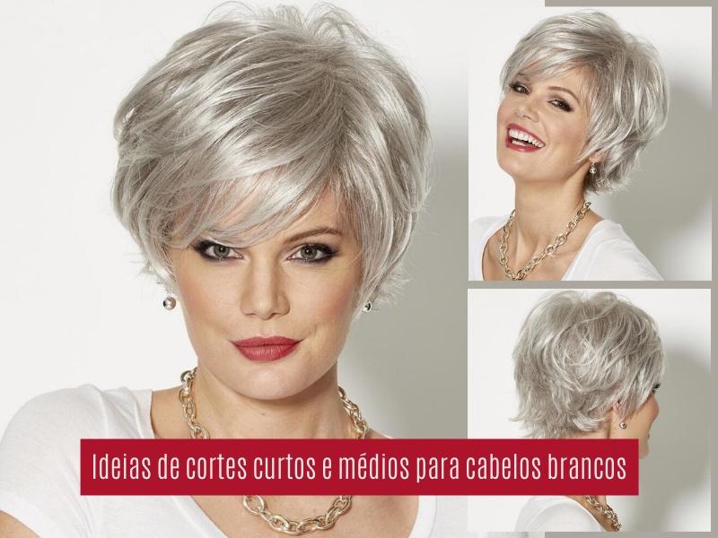 Idéias para cortes de cabelo curtos e médios para cabelos grisalhos