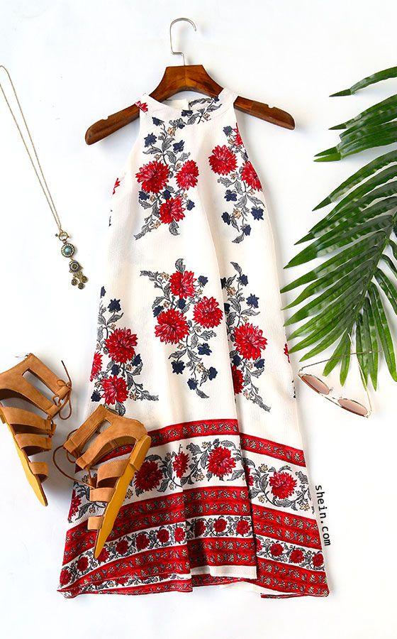 Moda anti-idade : Vestido Florido e Alegre para o Verão