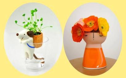 vasinho de ceramica para decorar a mesa com suculentas, cactos, flores