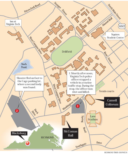 Campus Map Defrosting Cold Cases