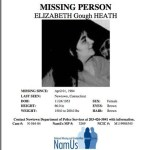 NaMus poster of Elizabeth Heath missing since 1984