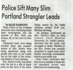 Police sift many slim Portland Strangler leads
