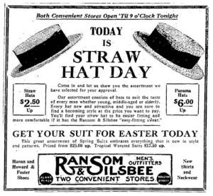 Ransom & Silsbee ad