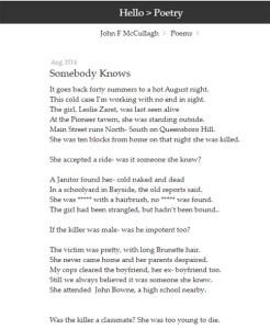 Leslie Zaret poem 1
