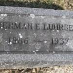 Herman Edward Wilhelm Luhrsen grave stone