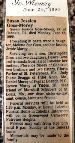 Susan's obituary Courtesy Morey Family