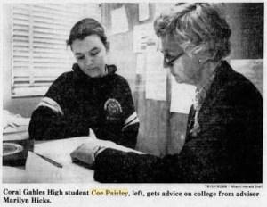 Coe Caroline Paisley Miami Herald Jan 10 1982