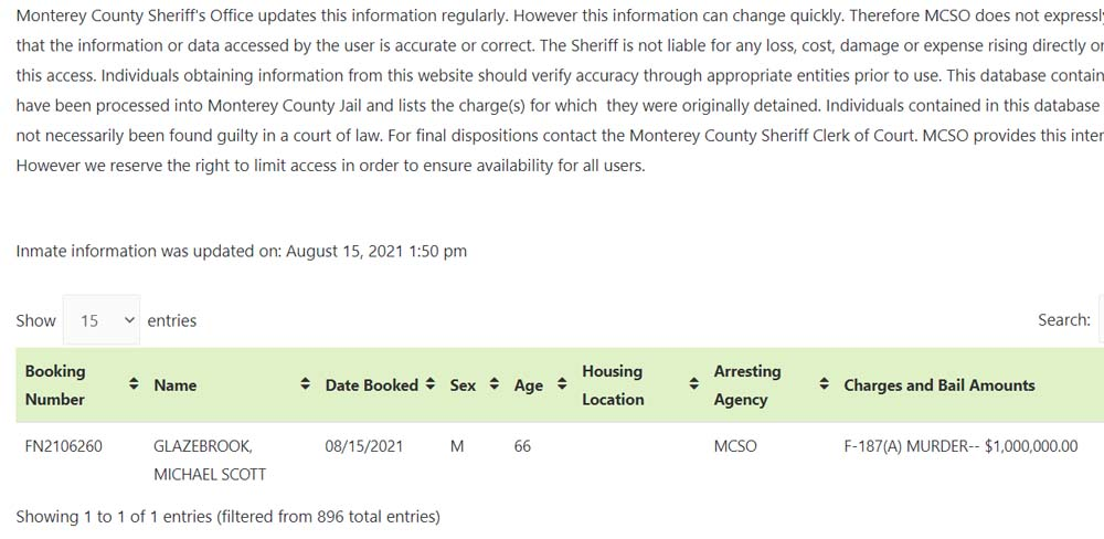 Glazebrook arrested 8 15 2021