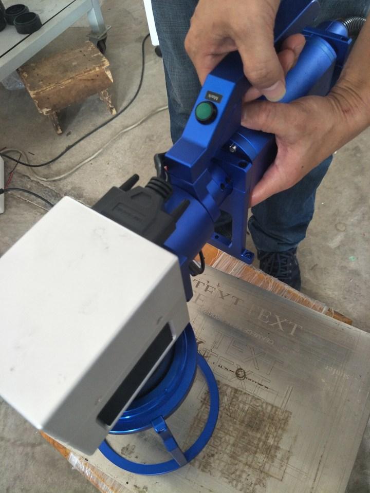 Deftmark™ 50W Handheld Split-type Raycus Fiber Laser Engraving Machine