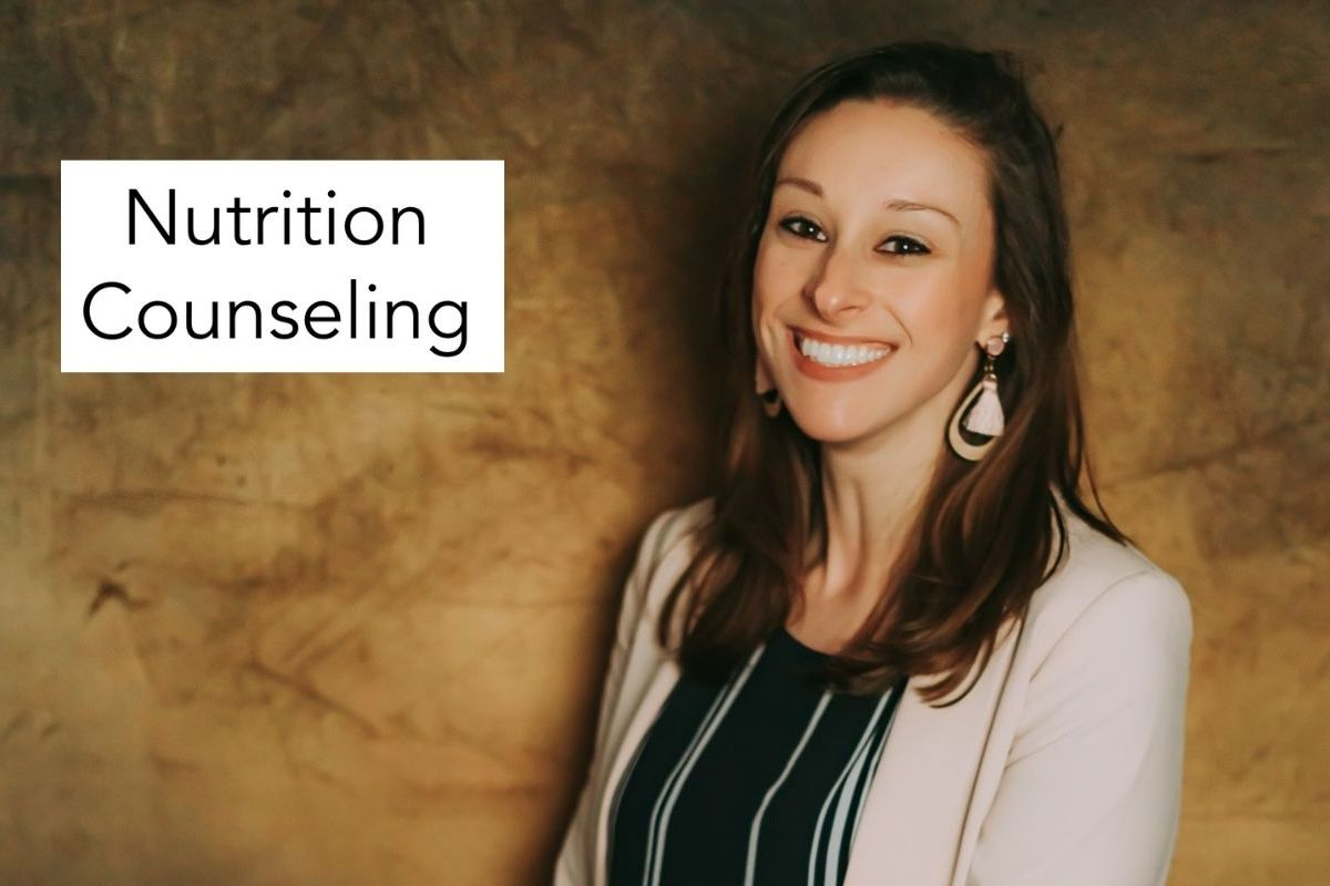 photo of Mary-Catherine with the words nutrition counseling