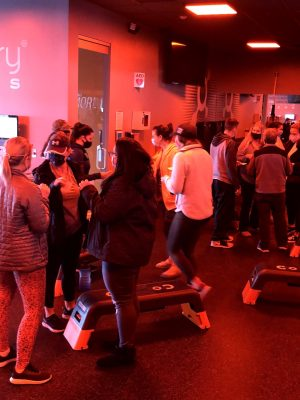 room of people at orange theory fitness